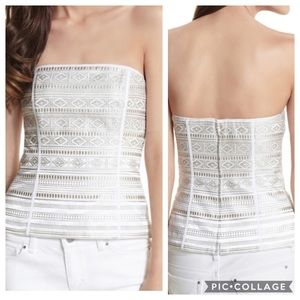 White House Black Market Embroidered Bustier